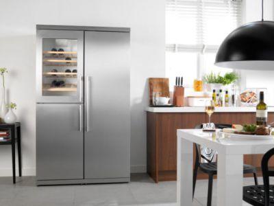 Wijnkoeler geïntegreerd - Keuken kopen in Duitsland bij Küchen Design Kleve - actie